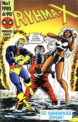Ryhmä-X 1/1985 Cover