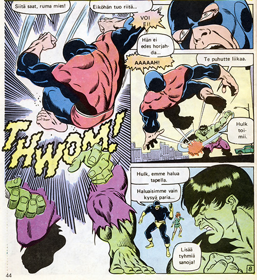 Ryhmä-X 3/1985 Hulk making sense, Scott isn't