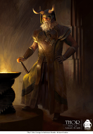 Odin, concept art for Thor (2011) by Michael Kutsche