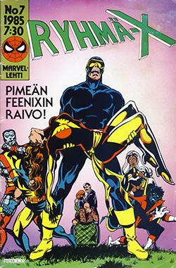 Ryhmä-X 7/1985 Cover