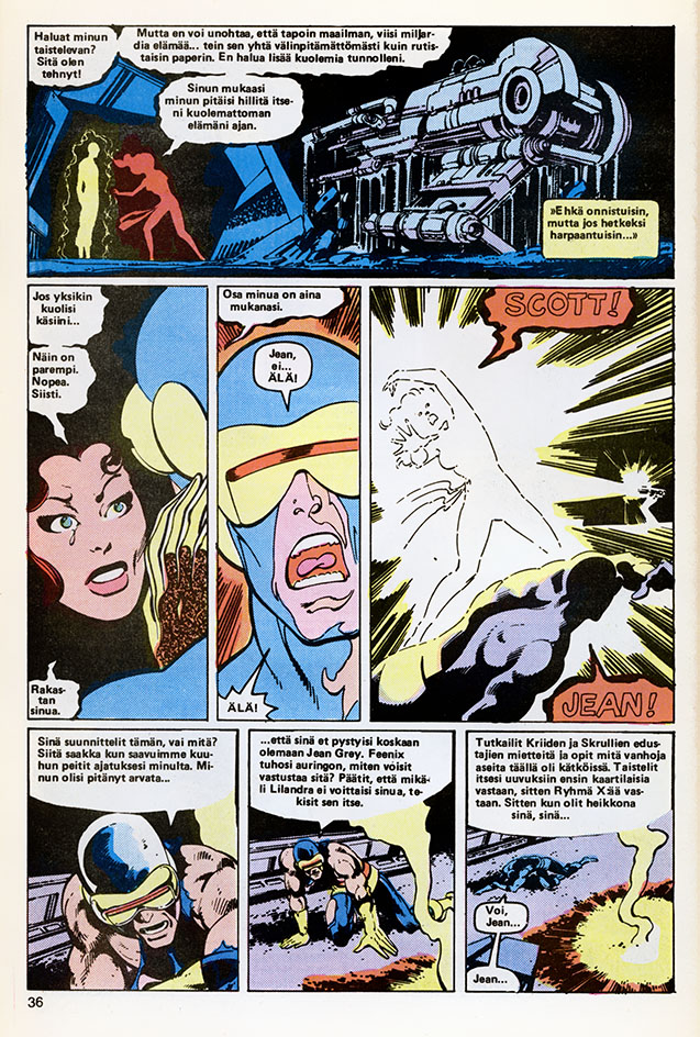 Ryhmä-X 8/1985 Jean dies