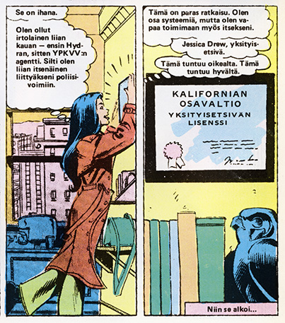 Ryhmä-X 8/1985 Spiderwoman starts her career as a private eye.