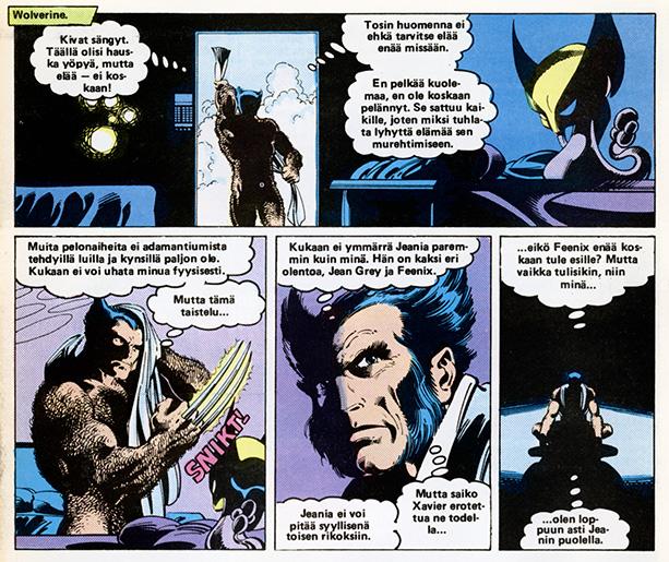 Ryhmä-X 8/1985 Wolverine naked
