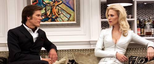 Emma Frost (January Jones) and Sebastian Shaw (Kevin Bacon) from X-Men: First Class (2011)