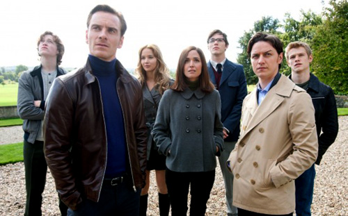 The first X-Men: Banshee (Caleb Landry Jones), Magneto (Michael Fassbender), Mystique (Jennifer Lawrence), Moira Mc Taggert (Rose Byrne), Beast (Nicholas Hoult), Xavier (James McAvoy),and Havok (Lucas Till) from X-Men: First Class (2011)
