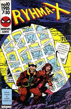 Ryhmä-X 10/1985 Cover