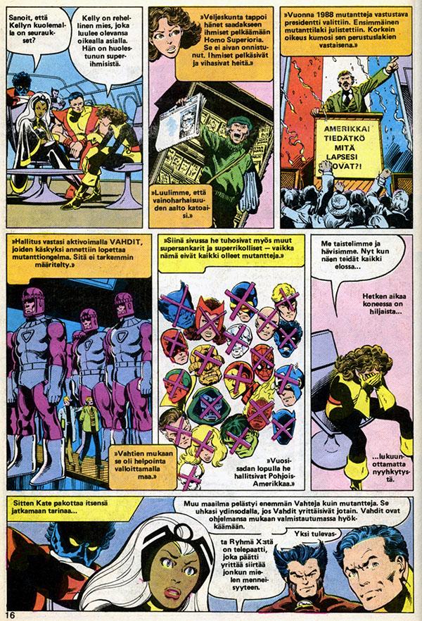 Ryhmä-X 10/1985 Future history