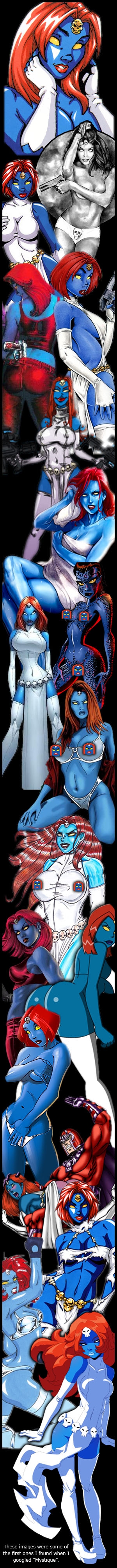 Mystique collage from the Internet