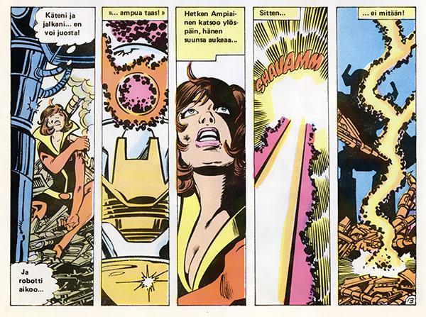 Ryhmä-X 11/1985 Wasp dies