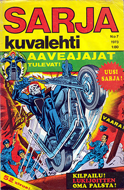 Sarjakuvalehti 7/1973 cover